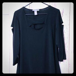 Kate & Mallory Torrid Black Cut Shoulder Dress